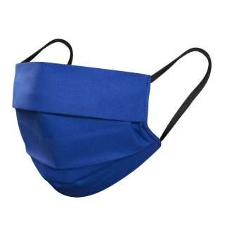 Mund- und Nasenmasken, 3-lagig, 5er Pack, Blau-Schwarz Gummi