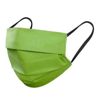 Mund- und Nasenmasken, 3-lagig, 5er Pack, Grün-Schwarz Gummi