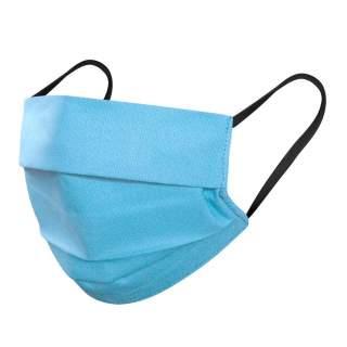 Mund- und Nasenmasken, 3-lagig, 5er Pack, Blau-Türkis