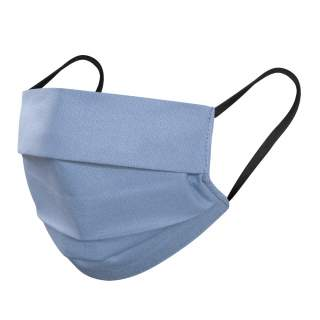 Mund- und Nasenmasken, 3-lagig, 5er Pack, Hellblau-Schwarz Gummi